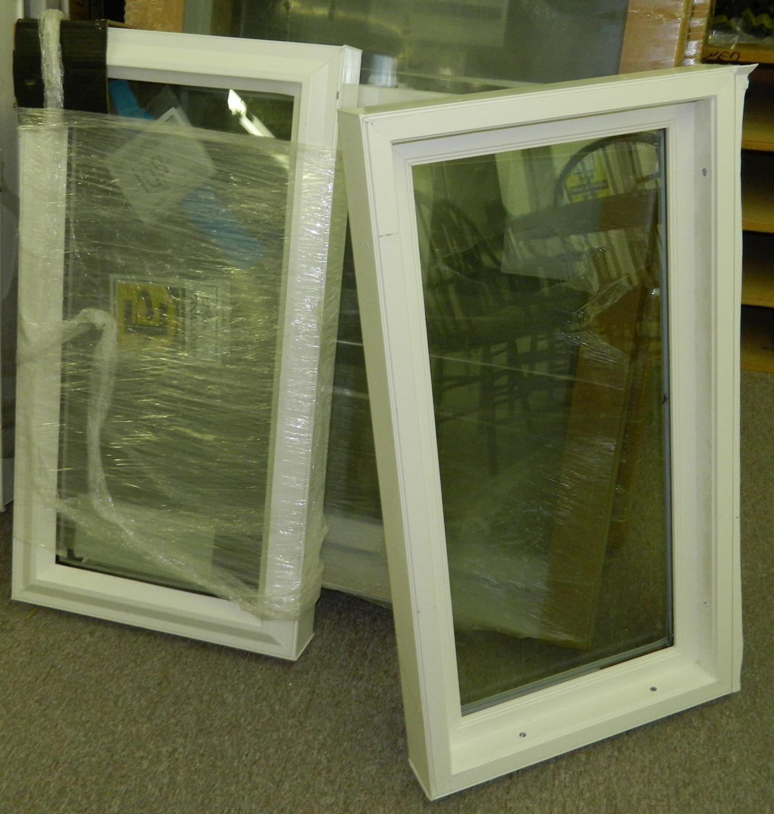 Pella windows and doors window vinyl double hung fixed for Double hung vinyl windows